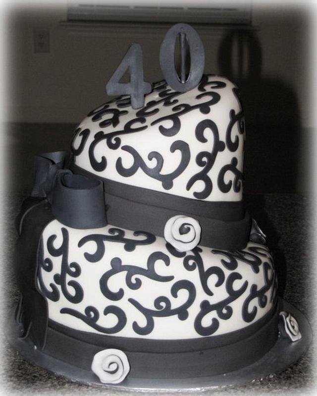 40th birthday cake topsy