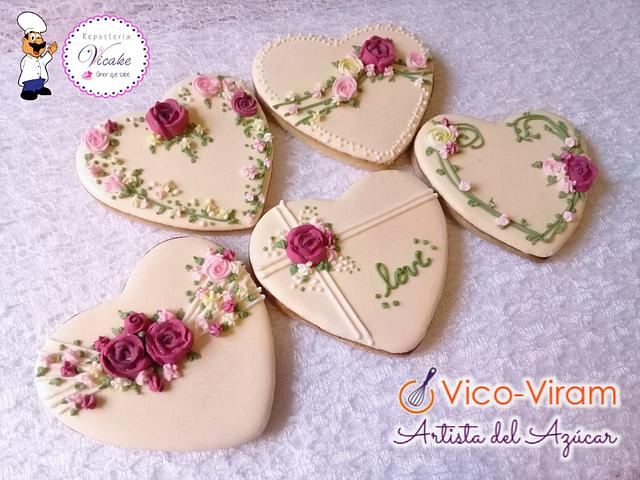 Set Wedding hearts