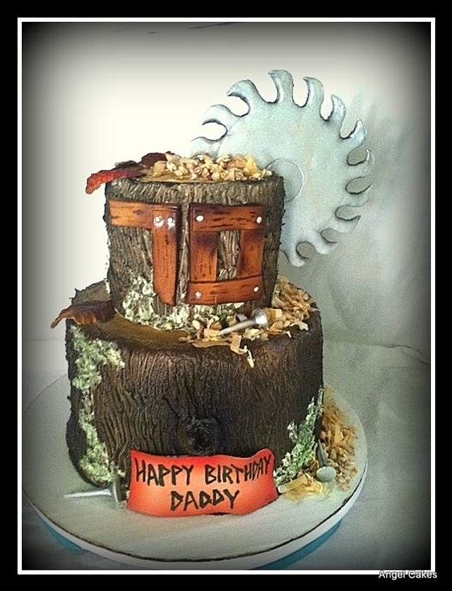 Sawmill Birthday Cake