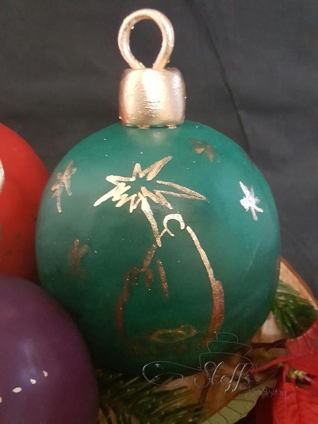 Christmas baubel cake