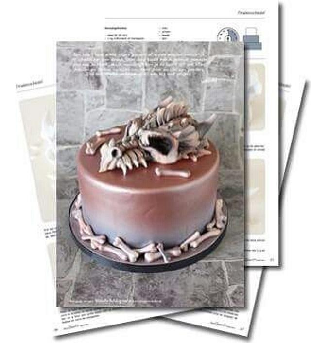 Dragon scull cake