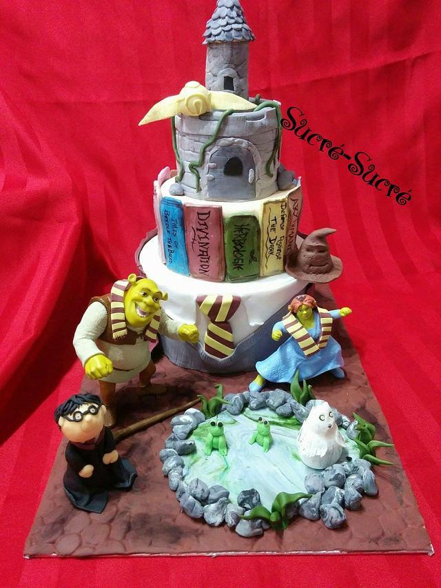 Harry Potter & Shrek cake