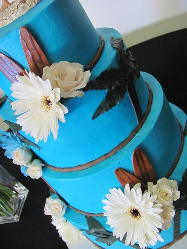 Malibu Beach Wedding Cake