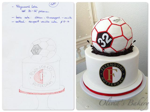 Feyenoord Football Cake