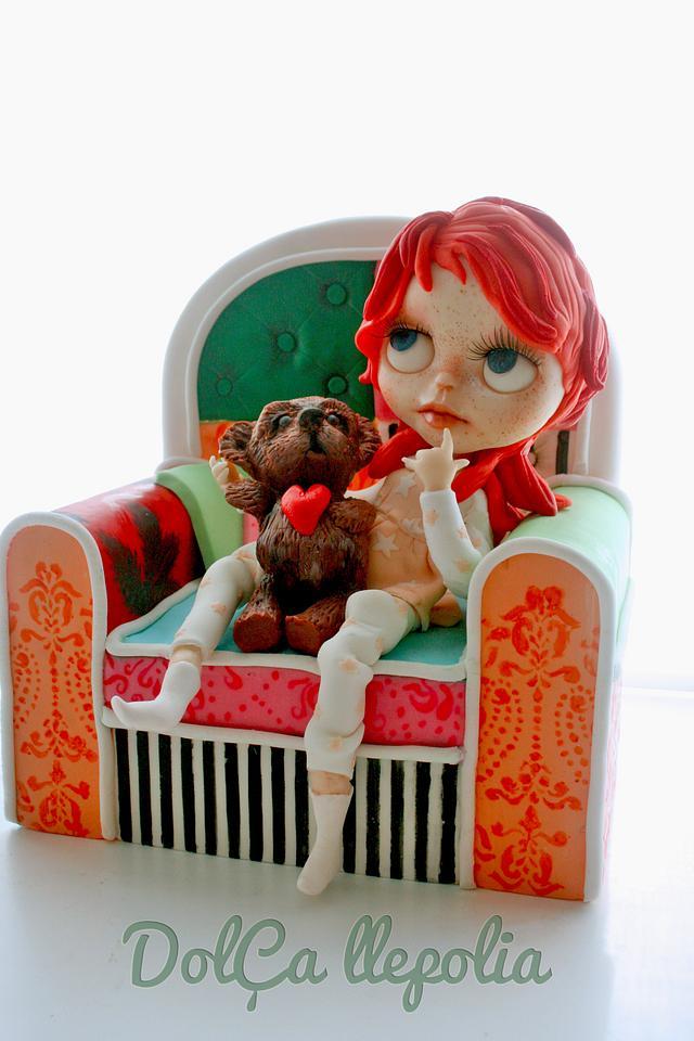 Blythe and teddy bear