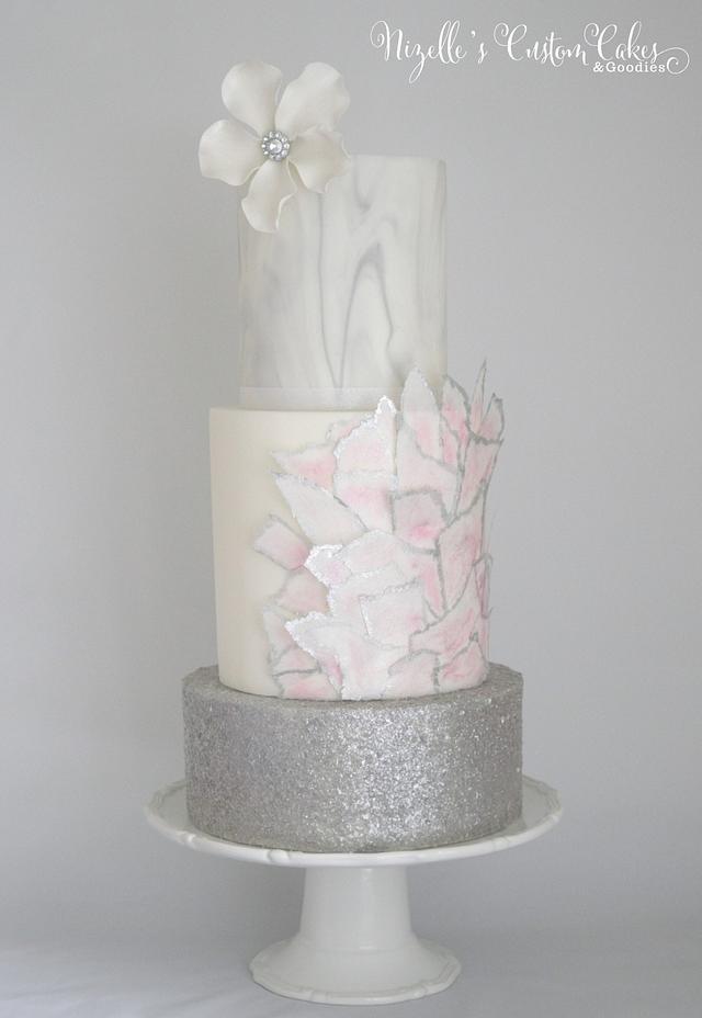 Marble Metallic Cake