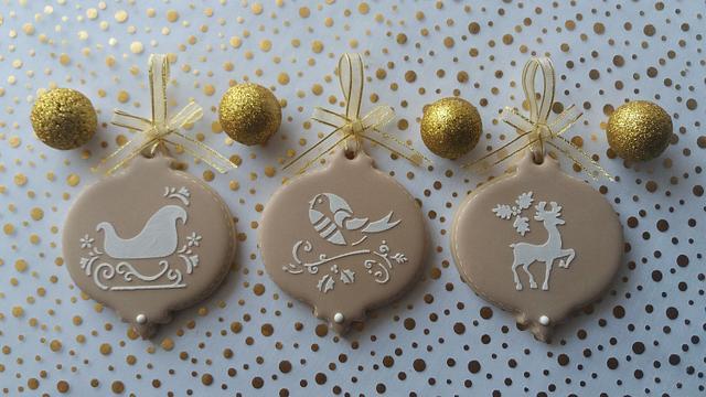 Vinatage Christmas hanging cookies