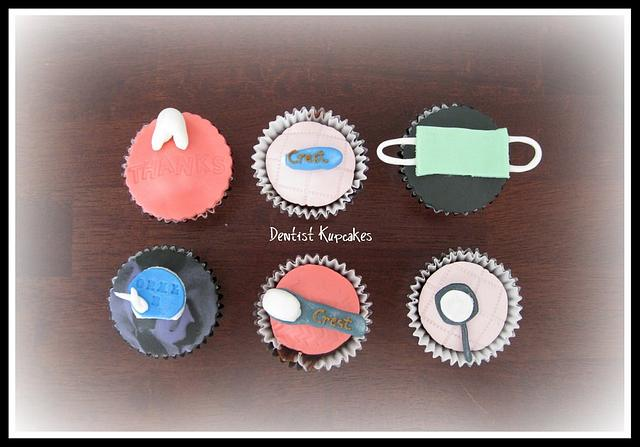 Dentist Theme Cupcakes