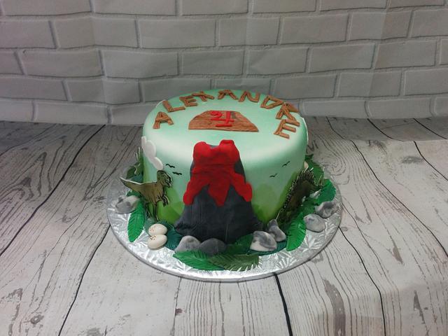 Dinosaure cake