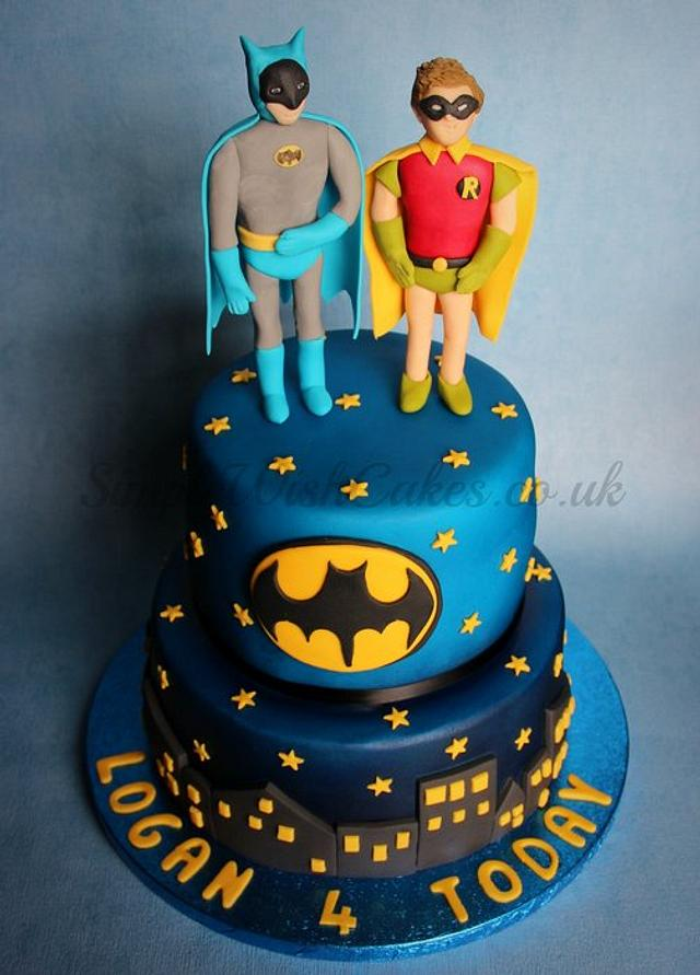 Miraculous Batman And Robin Cake By Stef And Carla Simple Wish Cakesdecor Personalised Birthday Cards Vishlily Jamesorg