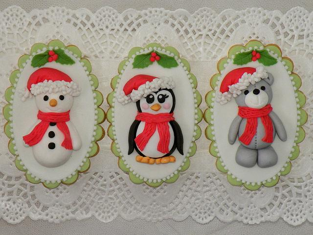 Ms Penguin, Mr Snow and Teddy