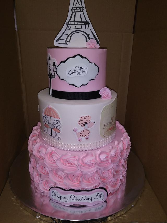 Awesome Paris Birthday Cake Cake By Rosa Cakesdecor Funny Birthday Cards Online Alyptdamsfinfo