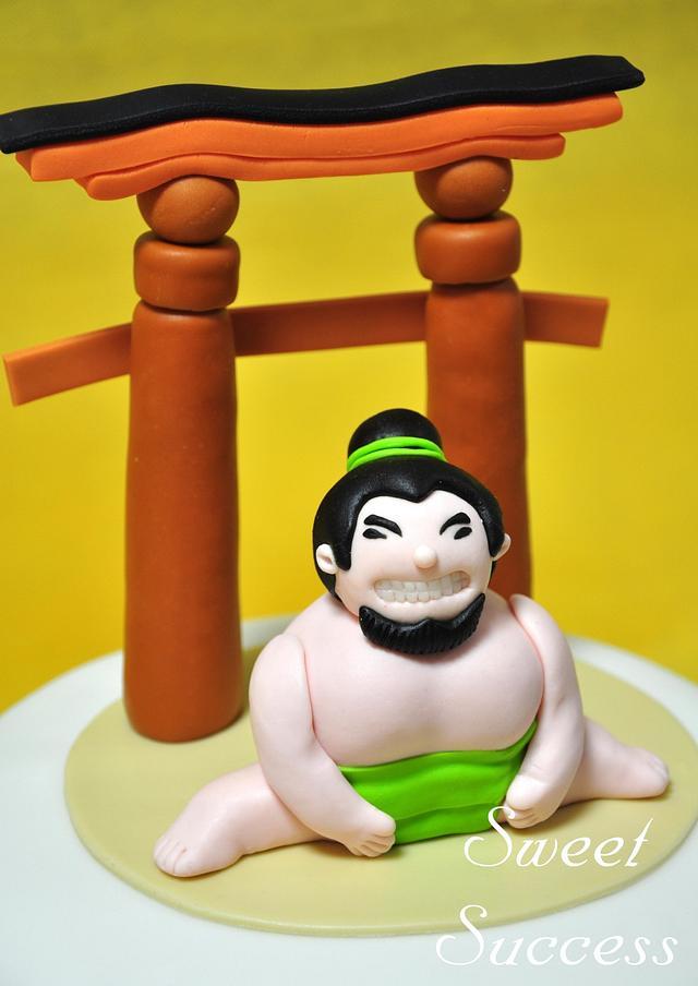 Sumo Wrestler Cake