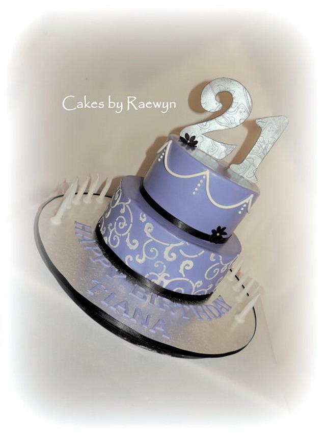 Tiana's 21st Cake
