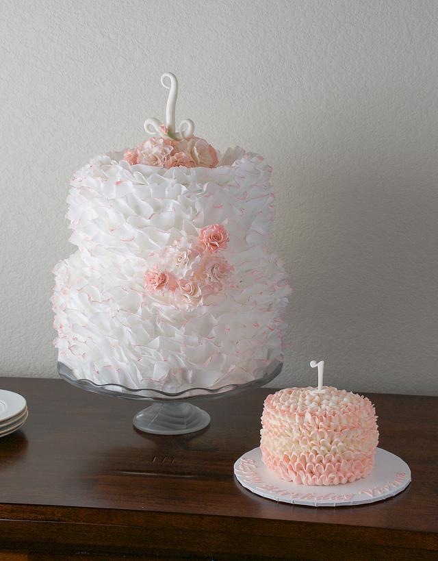 Stupendous Shabby Chic Birthday Cake Cake By Redheadcakes Cakesdecor Personalised Birthday Cards Cominlily Jamesorg