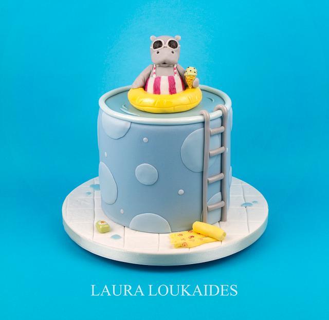 Hippo Holiday Cake