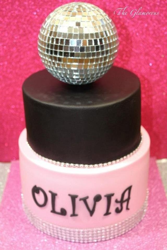 Disco Mirror ball cake