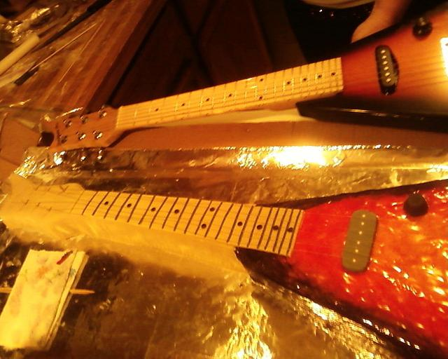 actual size 3/4 Flying V guitar