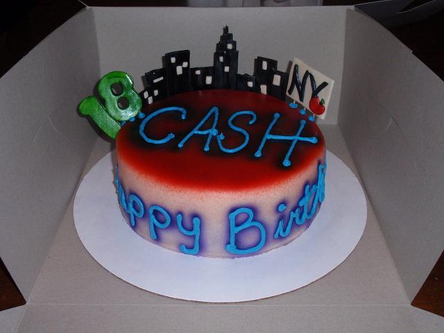 Ny City B-day cake
