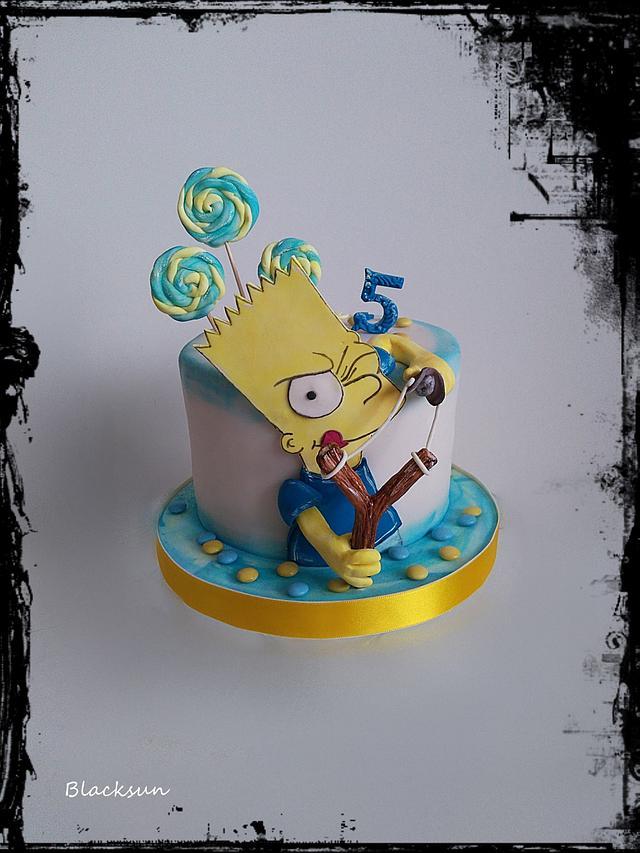 Marvelous Bart Simpson Cake By Blacksun Cakesdecor Personalised Birthday Cards Veneteletsinfo