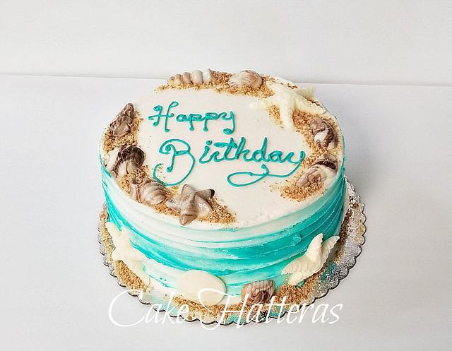 Terrific Beach Birthday Cake Cake By Donna Tokazowski Cake Cakesdecor Funny Birthday Cards Online Overcheapnameinfo