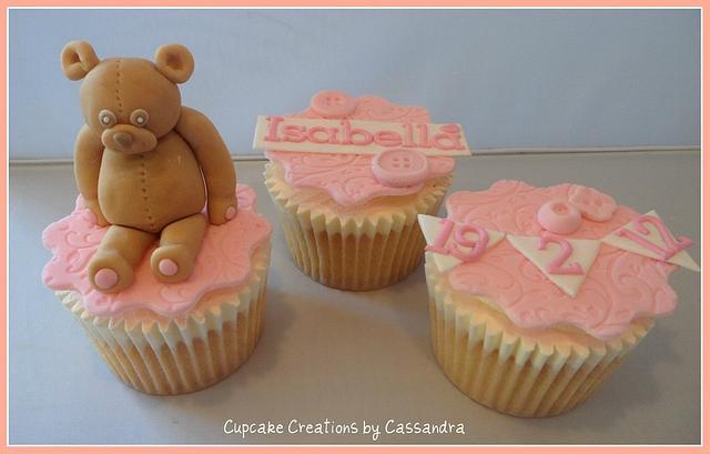 Baby Girls Christening Cupcakes