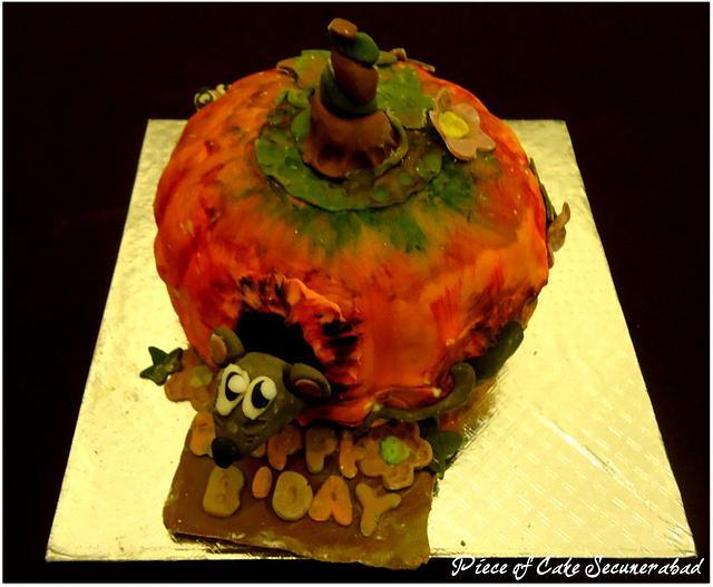 Painted Pumpkin Cake