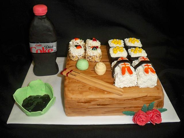 Sushi cake for my daughter's 1st Mother's Day!