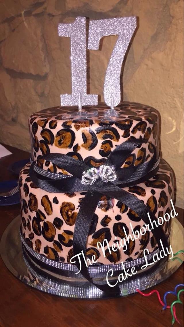 Awesome Cheetah Birthday Cake Cake By Neighborhoodcakelady Cakesdecor Funny Birthday Cards Online Benoljebrpdamsfinfo