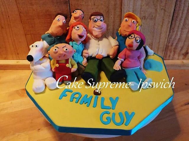 Awe Inspiring Family Guy Cake By Cake Supreme Ipswich Cakesdecor Funny Birthday Cards Online Alyptdamsfinfo