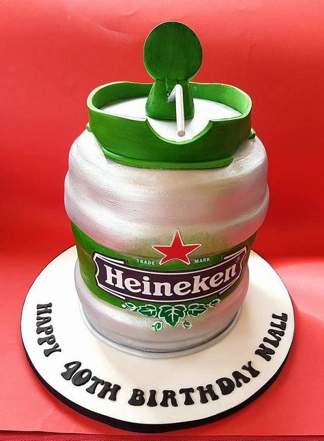 Heineken Keg Cake
