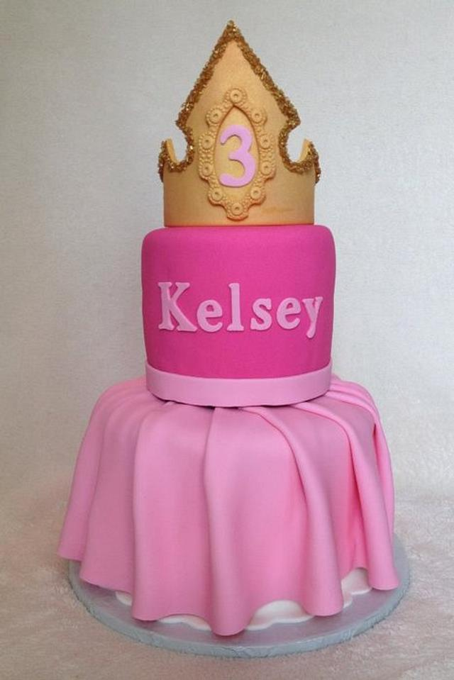 Marvelous Sleeping Beauty Dress And Crown Birthday Cake Cake By Cakesdecor Funny Birthday Cards Online Barepcheapnameinfo
