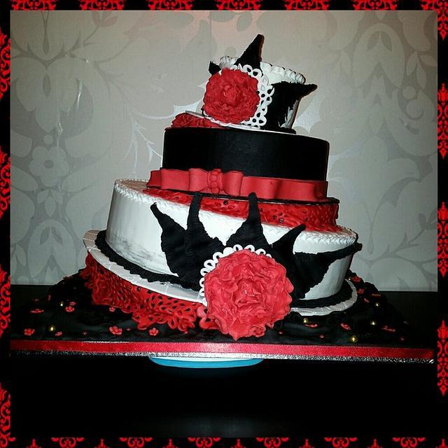 Topsy Turvy Hat Cake