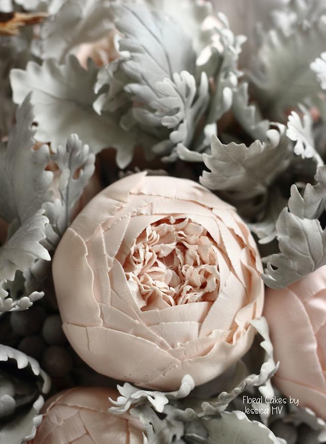 Gum paste peony rose