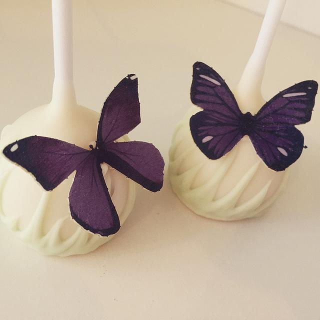 Beautiful butterfly cake pops