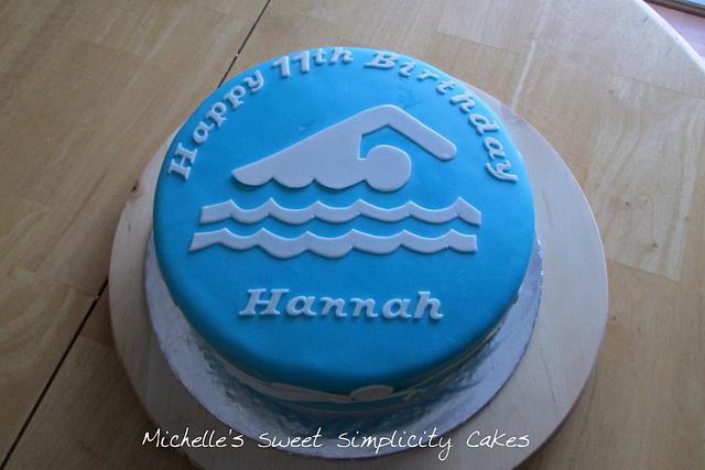 Awesome Swimming Strokes Birthday Cake Cake By Michelle Cakesdecor Personalised Birthday Cards Vishlily Jamesorg