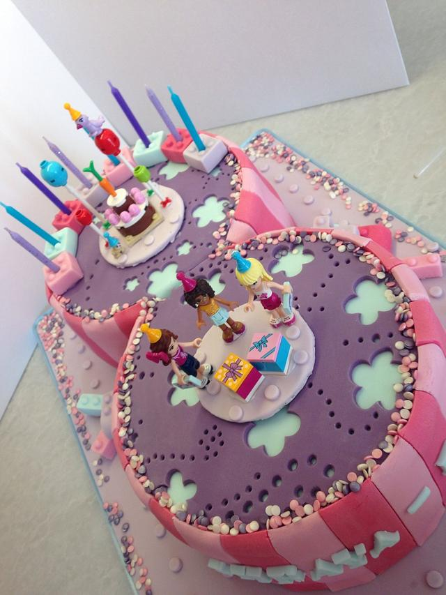 Admirable Lego Friends Cake By The Midnight Baker Cakesdecor Personalised Birthday Cards Paralily Jamesorg