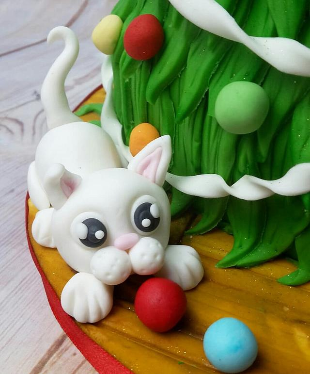 Christmas Tree Cat-astrophe