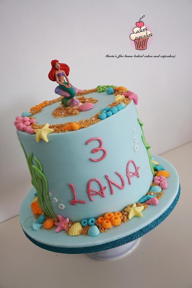 Astonishing Princess Ariel Cake Cake By Marias Cakesdecor Funny Birthday Cards Online Drosicarndamsfinfo