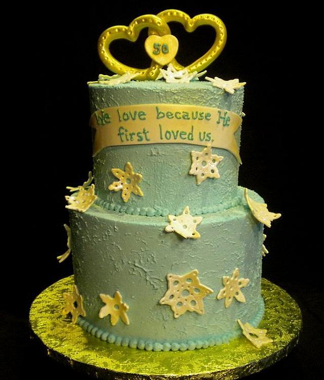 Winter Anniversary Cake