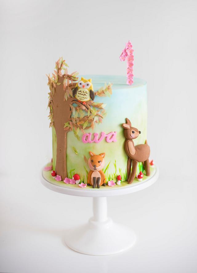 Whimsical Woodlands Cake
