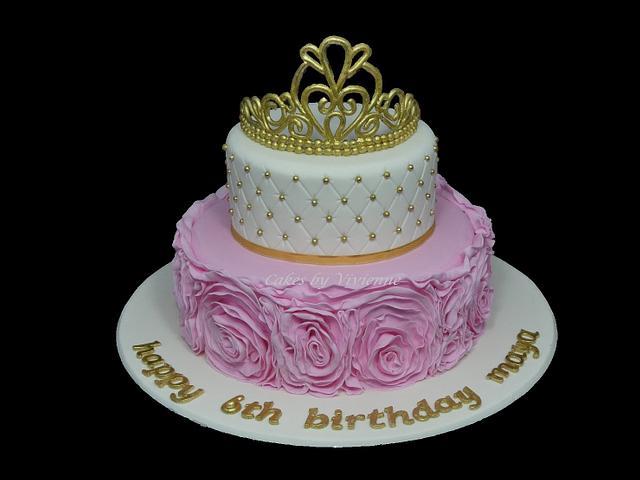 Princess Rose Ruffle Birthday Cake