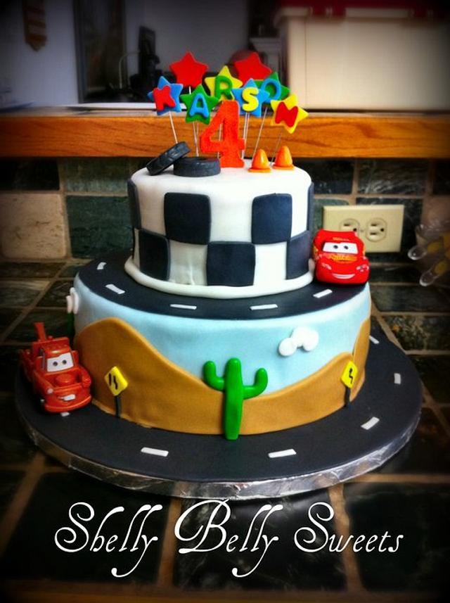 Cars Theme Cake