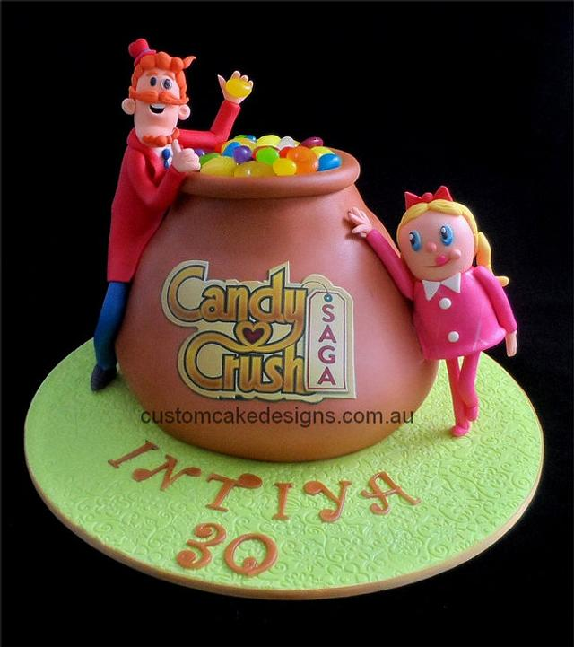 Facebook Candy Crush Cake