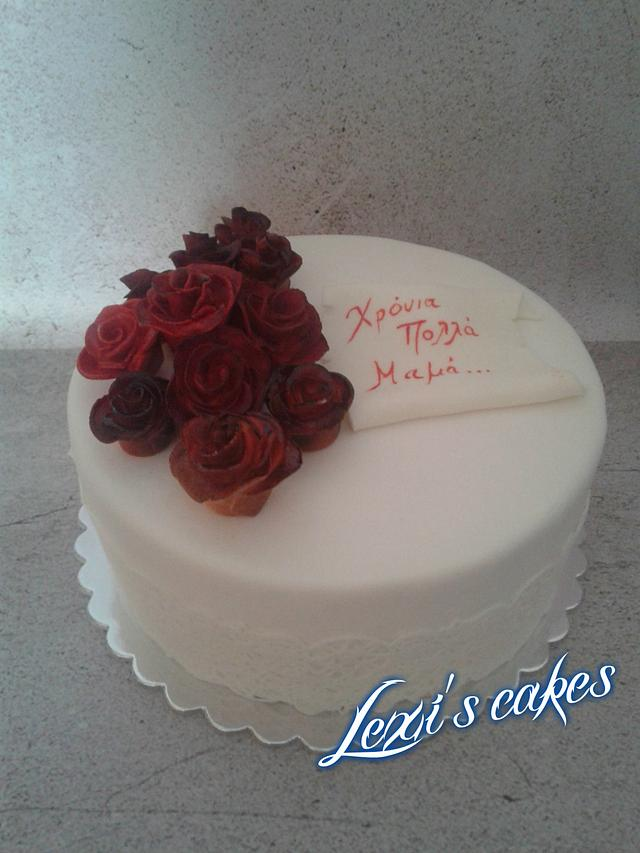 Phenomenal Happy Birthday Mom Cake Cake By Alexialakki Cakesdecor Funny Birthday Cards Online Alyptdamsfinfo