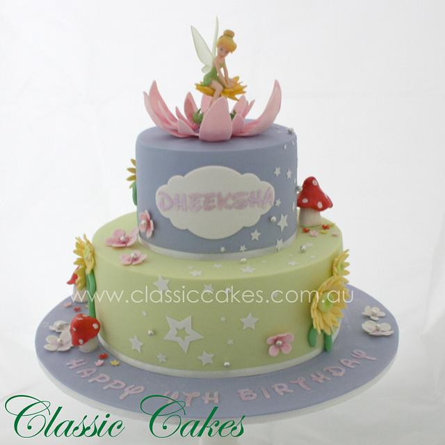 Strange Tinkerbell Birthday Cake Cake By Melanie Jacobs Cakesdecor Personalised Birthday Cards Paralily Jamesorg