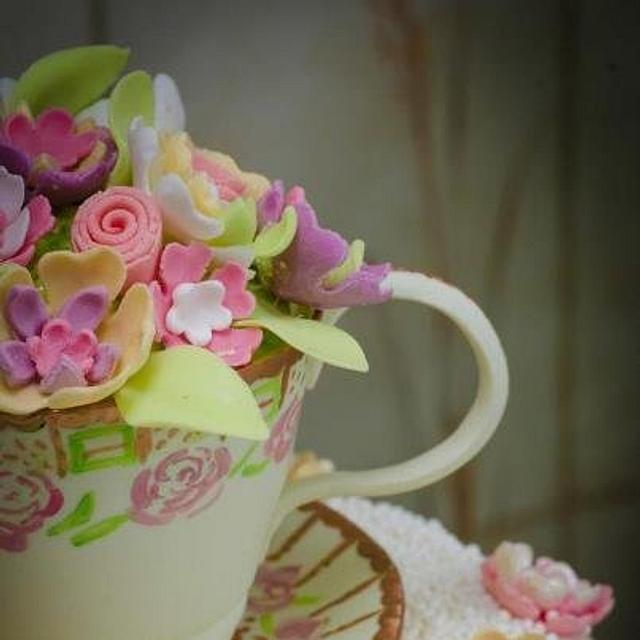 A cup of tea ..... and a slice of cake!