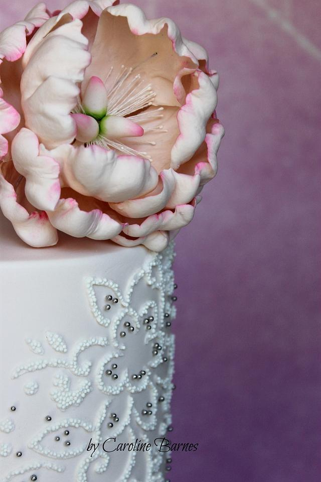 Beaded embroidery cake