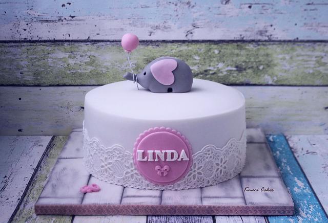 Christening Cake - Little Elephant