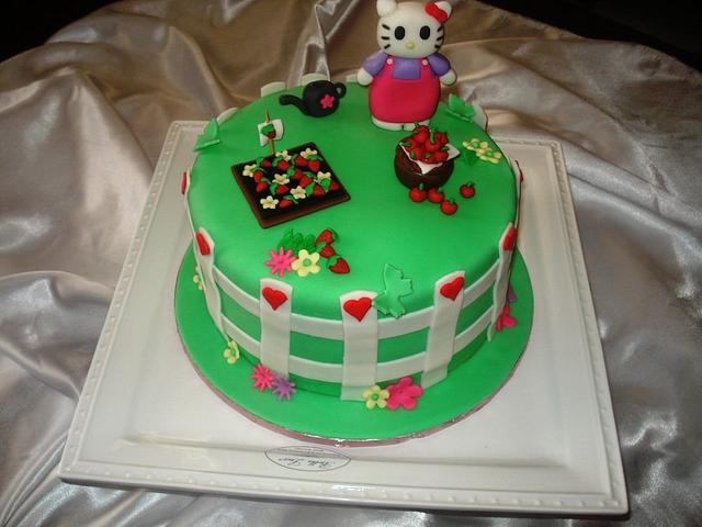 Hello Kitty Strawberry Patch Cake